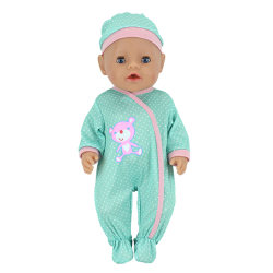 "Doll jumpsuit with hat for 43cm baby born zapf 18"" american girl One Size"
