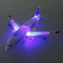 Electric Airplane Toys Model With Moving Flashing Lights And Sou One Size