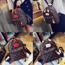 Fashion Backpack Students Bag Pack Shoulder Bags PU Women Beg Red