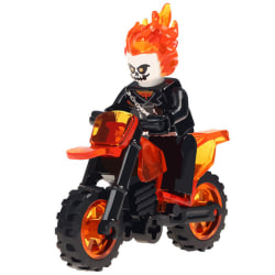 Ghost Rider Goes marvel at Avengers superhero with motorcycle bu