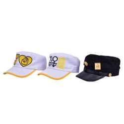 Handsome Kujo Jotaro Army Military JOJO Cap Hat Badge Animation  P3