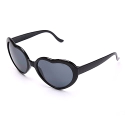 Heart Effect Diffraction Glasses Hjärtljus Hjärtformad Speci Black