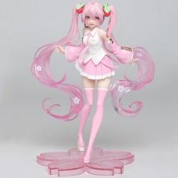 High Quality Anime Miku Pink Sakura Miku PVC Statue Figure Model