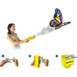 Magic Flying in the Book Butterfly Rubber Band Powered Wind Up  one size