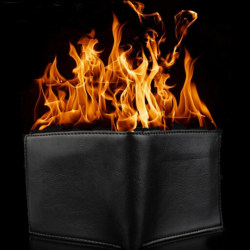 Magic Trick Flame Fire Wallet Leather Magician Stage Perform St 0 0