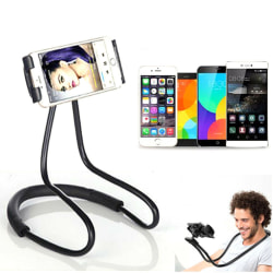 Mobile phone neck holder gooseneck stand for iphone ipad smartph Black