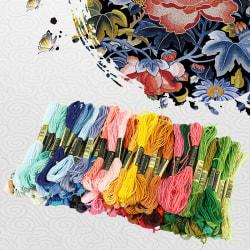 Multi color 8m manual DIY cross stitch colored cotton thread A
