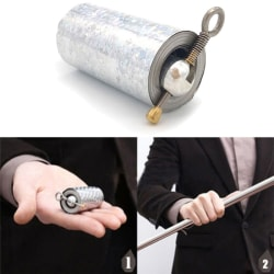 Portable Martial Arts Metal Magic Pocket Bo Staff 150cm New Pock Silver 1.5M