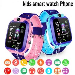 Q12 Children's Smart Watch SOS Watch Waterproof IP67 Kids Gift F Pink