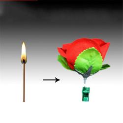 Rose Flower Magic Tricks Magician Prop Satge Close Up Magic Acc Red 8*8*7.4cm