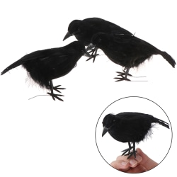 Simulate raven feather artificial crow prop halloween bird real Onesize