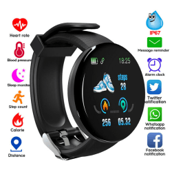 Smart Watch Fitness Sport Activity Tracker Heart Rate Monitor Fo Black