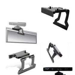 TV Clip Mount Mounting Stand Holder for Microsoft Xbox 360 Kine black