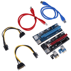 VER009S PCI-E Riser Card 009S PCI Express 1X to 16X 4Pin 6Pin S A1