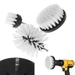 White Electric Floor Cleaning Brush Drill Power Tool Removing S 3PCS