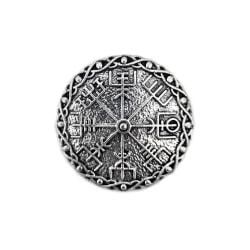 Viking Symbol Vägvisare Vegvísir Brosch