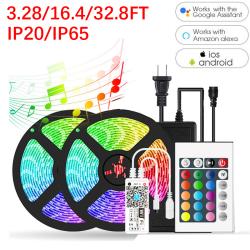 12V LED Strip Llights Color Changing Tape 10m/32.8ft EU Plug IP20