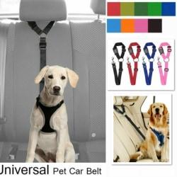 1pcs Adjustable Nylon Pet Cat Dog Safety Seat Belt Army green