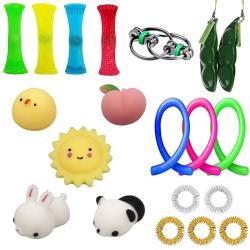 20 Fidget Toys Pack Sensory Pop it Stress Ball
