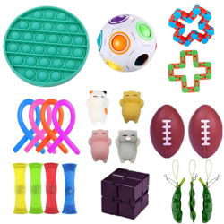 22pcs Fidget Toys Pack Sensory Pop it Stress Ball
