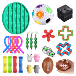 24pcs Fidget Toys Set for Children and Adults Multicolor