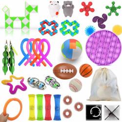 36pcs Fidget Toys Set Sensory Pop it Toys for Children