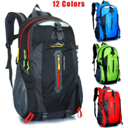 40L Outdoor Travel Backpack Sports Bag  Black & Red 40L
