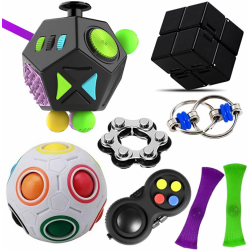 8 pcs Fidget Toy Set Handheld Stress Reducer Toy for Kids Adults Random 8 Pack