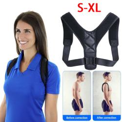 Brace Support Belt Adjustable Back Posture Correction Belt L