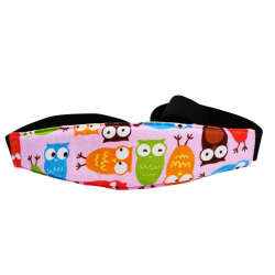 Baby Kids Sleep Aid Car Head Holder Belt Pink