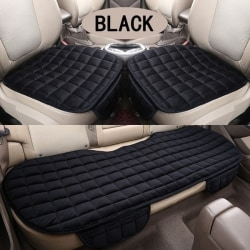 Comfortable Non-slip Breathable Car Cushion Black 3pcs Suit