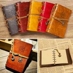 Fashion Journal Notebook Spiral Ring Binder Diary Retro Book