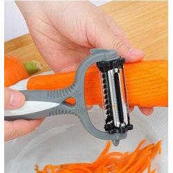 Kitchen Multifunctional Peeler Planer Grater Kitchen Tool Grey