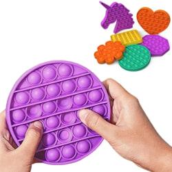 Pop It Fidget Toys - Decompression Toy / Sensory Toy Black Round