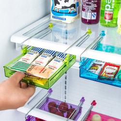 Refrigerator Multi-Partition Space Fresh Layer Storage Rack Blue