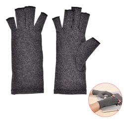 1 Pair Arthritis Compression Gloves Hand Wrist Support Braces Re Black M