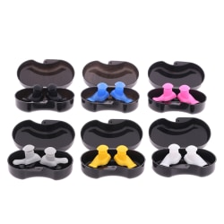 1 Pair Soft Silicone Ear Plugs Ear Protection Reusable Earplugs  Black