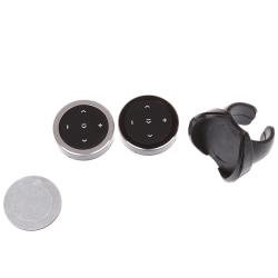 1 Set Wireless Bluetooth Media Steering Wheel Remote Control Mp3 Black C black+bracket