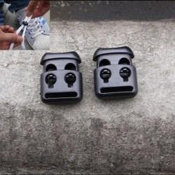 10 PCS Shoelace Buckle Non-slip Survival Stopper Rope Clip Clamp