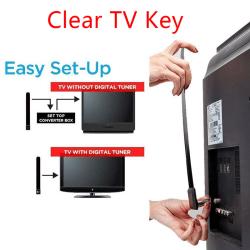 1080p clear TV key HDTV 100+ free HD TV digital indoor mini ant One Size