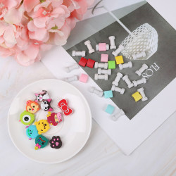 10Pcs Cartoon cable protector for phone cable Winder Cover Organ One Size