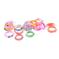 10Pcs Fancy Acrylic Resin Kids Rings Mixed Colours Children Kids 0 0