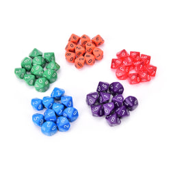 10pcs multi sides dice D10 gaming dices for RPG games Purple