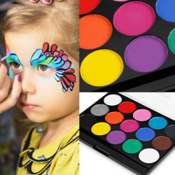 15 Colors Face Body Paint Oil Painting Art Make Up Tool Set Hal one size