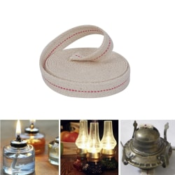 15ft 3/4' Flat Cotton Oil Lamp Wick Roll For Oil Lamps Lanterns White