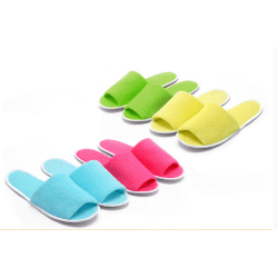 1Pair Portable Breathable Disposable Slippers Hotel Slippers SPA Grey 0
