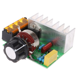 1Pc 4000W 220V AC SCR Electric Voltage Regulator Motor Speed Con one size