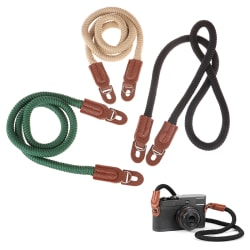 1Pc Cotton Rope Camera Neck Strap Vintage Shoulder Strap Leathe Green