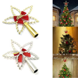 1PCS Christmas Tree Top Five-pointed Star Hang Xmas Decoration T Gold