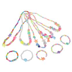 1Set new child  beads necklace colorful girls bubblegum handmade E